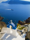 Mountain Cliffs Oia  Santorini  Greece