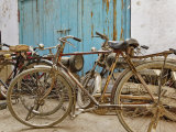 Group of bicycles in gulley (alley) Delhi  India