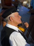Older Gentleman Playing The Violin  Imerovigli  Santorini  Greece