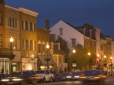 M Street Northwest At Dusk  Georgetown  Washington DC  USA