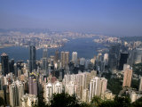 Hong Kong and Kowloon Taken from Victoria Peak  China