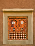 Ornate Detail of a Wooden Window  Djenne  Mali