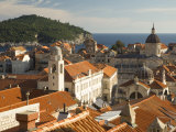 Red tile roofs dominate the old city of Dubrovnik  Dalmatia  Croatia
