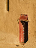 Shoes outside side door into the Mosque at Djenne  Mali  West Africa