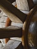 Close-Up of Wooden Wagon Wheel  Virginia City  Montana  USA
