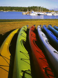 Sea Kayaks  Fisherman Bay  Lopez Island  Washington  USA