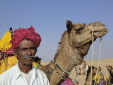 Camel driver portrait with his camel  Thar Desert  Jodhpur  India