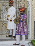 Greeting party at the entrance to Raj Palace Hotel  Jaipur  India