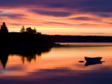 Skiff at Sunrise in Eggemoggin Reach  Little Deer Isle  Maine  USA