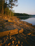 Sunrise along shore of Table Rock Lake  Mark Twain National Forest  Stone County  Missouri  USA