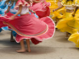 Cuenca Swirling Skirt of Female Dancers  Cuenca  Ecuador