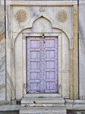 Lavender colored door  Taj Mahal  Agra  India