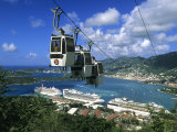 Cable Car and Cruise Ship  St Thomas  US Virgin Islands