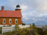 Eagle Harbor lighthouse on Lake Superior  Michigan  USA