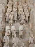 Museum of Qin Terra Cotta Warriors and Horses  Xian  Lintong County  Shaanxi Province  China