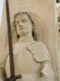 Orlando's column in Luza Square  Dubrovnik  Dalmatia  Croatia