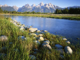 Teton Range from the Snake River  Grand Teton National Park  Wyoming  USA
