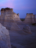 The Chalk Pyramids  Monument Rocks National Natural Area  Kansas  USA