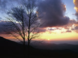 Sunset in Blue Ridge Mountains  Shenandoah National Park  Virginia  USA
