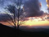 Sunset in Blue Ridge Mountains  Shenandoah National Park  Virginia  USA