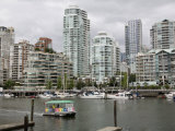 Skyline from Granville Island  Vancouver  British Columbia  Canada