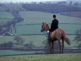 Man on horse  Leicestershire  England