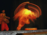 Long exposure on Traditional Dancer  New Delhi  India