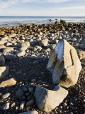 Boulders on the beach on Cape Cod Bay  Center Hill Preserve  Plymouth  Massachusetts  USA