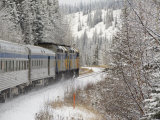 Via Rail Snow Train Between Edmonton &amp; Jasper  Alberta  Canada