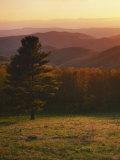 Sunset from Hazeltop Ridge  Shenandoah National Park  Virginia  USA