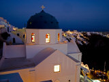 Evening Light on Church  Imerovigli  Santorini  Greece