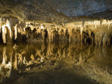 Stalactites Stalagmites  Louray Caverns  Virginia  USA