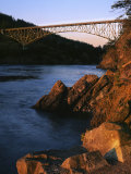 Bridge  Deception Pass State Park  Washington  USA