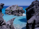 Beach on South Coast  Bermuda  Caribbean