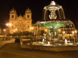 Night Shot of Plaza De Armas  Cusco  Peru