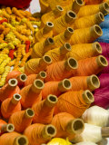 Colorful Ecuadorian thread  Otavalo Market  Ecuador