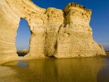Keyhole of Monument Rocks  Kansas  USA