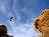 Man Jumps Gap at Red Bull Rampage Site  Virgin  Utah  USA
