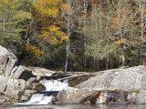 Upper Linville Falls at the Blue Ridge Parkway  North Carolina  USA