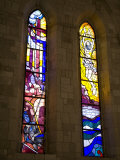 Stained glass windows in the Church of St Dominic  Dubrovnik  Dalmatia  Croatia