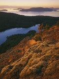 Sunrise from Mt Constitution  Moran State Park  Orcas Island  Washington  USA