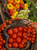 Market With Vegtables  Fira  Santorini  Greece