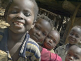 Children Smiling  Busso Village  Konso Tribe  Ethiopia