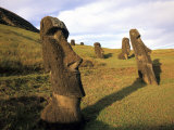 Moia  Easter Island  Chile