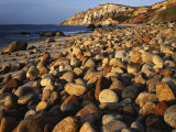 Boulders  Aquinnah (Gay Head) Cliffs  Martha's Vineyard  Massachusetts  USA