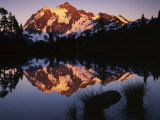 Mt Shuskan in North Cascades National Park from Picture Lake  Washington