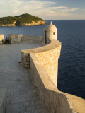 Old city walls built 10th century  Dubrovnik  Dalmatia  Croatia