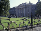 Trinity College and bicycles  Dublin  Ireland