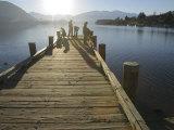 Pier  Lake Wanaka  South Island  New Zealand
