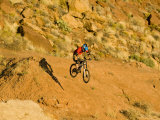 Jumping Mountain Bike  Rockville  Utah  USA
